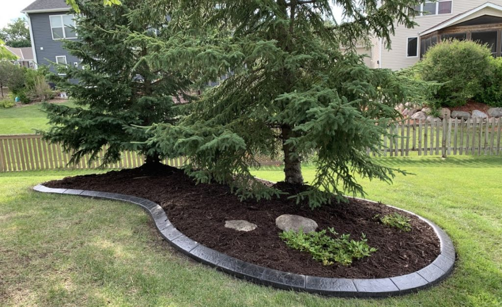 planting shrubs in mulch landscaping Maple Grove MN