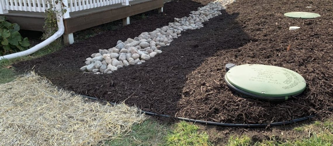 landscape drainage work in Rogers MN